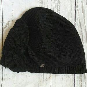 4ac02cc983e Sonia Rykiel Accessories - Sonia Rykiel Black wool beanie winter hat  w flower